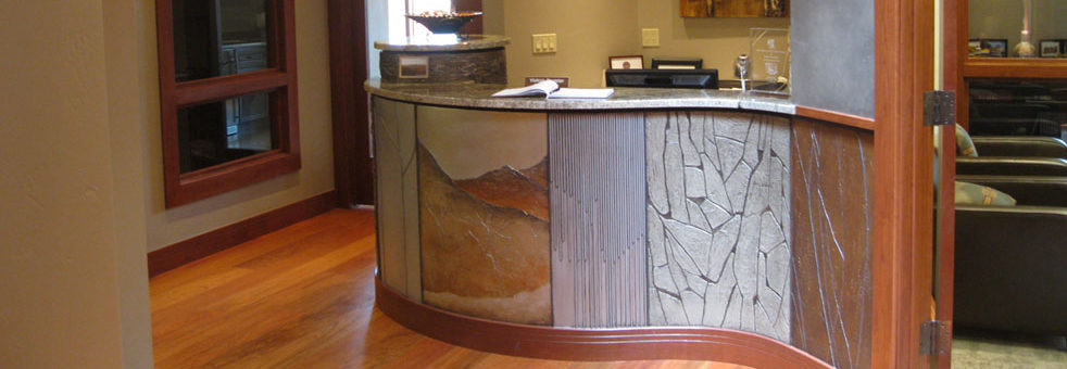 Durango, Colorado, commercial, office, architecture, interior design, interior decorating, general contractor, durango contractor, durango remodeling contractor, durango remodeling company, office remodel durango, durango remodel, wood, metal, custom desk, design build, durango builder